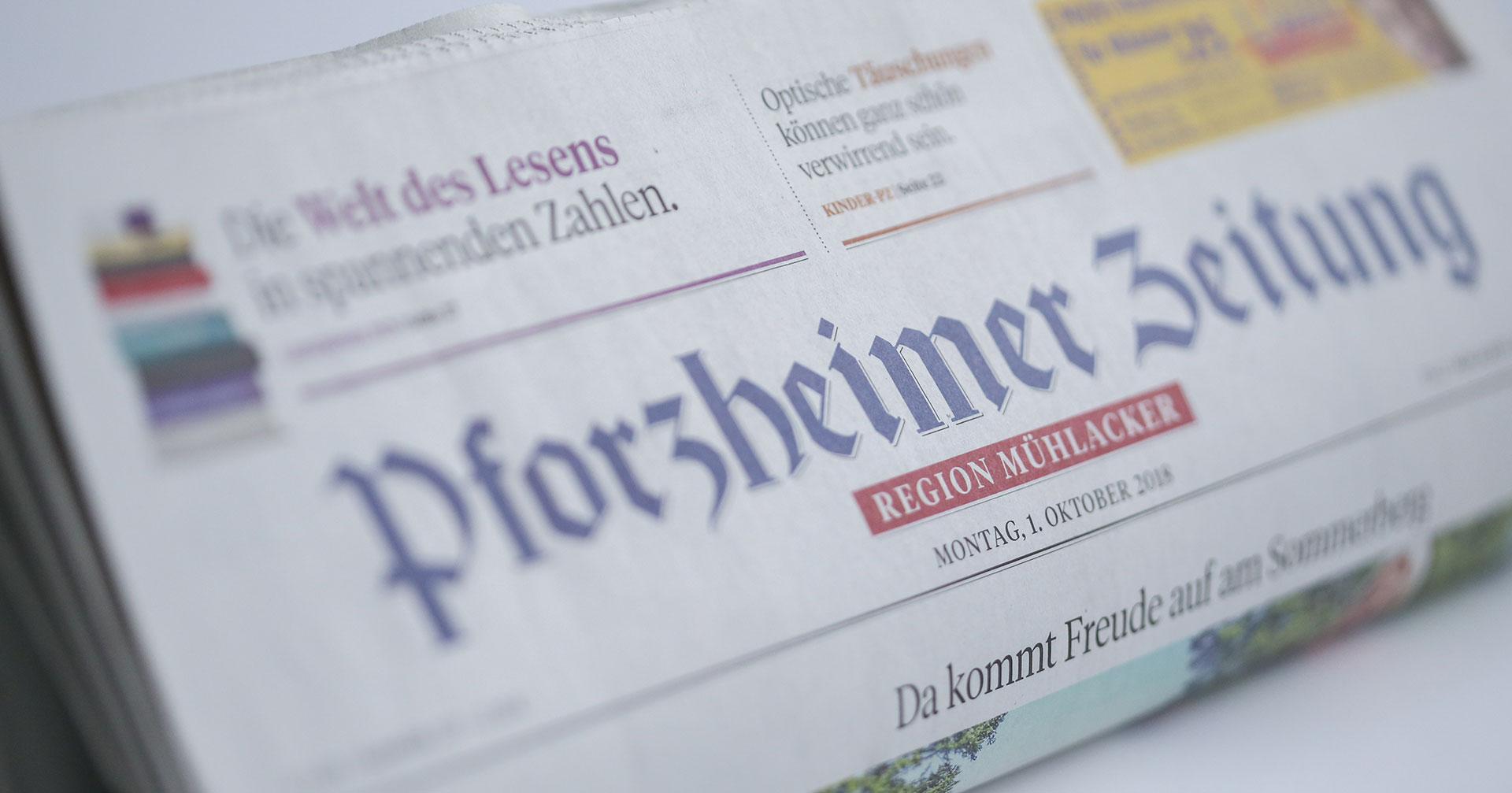 Pforzheimer Zeitung Region Mühlacker